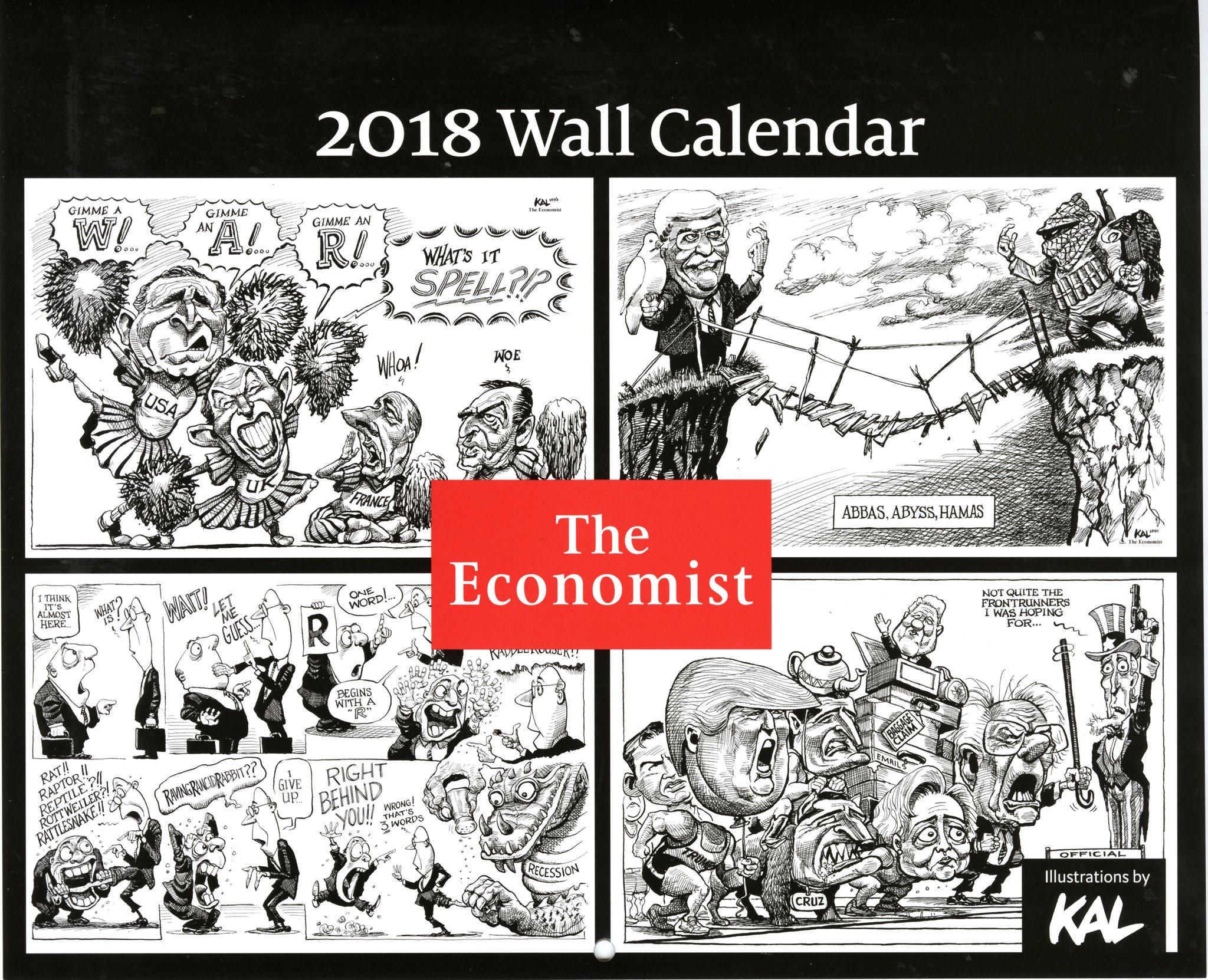 Calendar Cover 2018 : Economist calendar cover aminutetomidnite